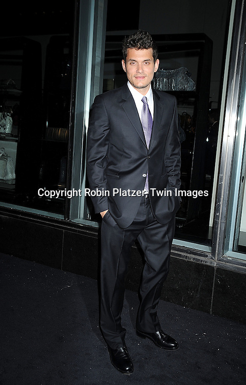 singer John Mayer..arriving at The Armani/ 5th Avenue Store Opening at 717 Fifth Avenue in New York City on February 17, 2009.....Robin Platzer, Twin Images