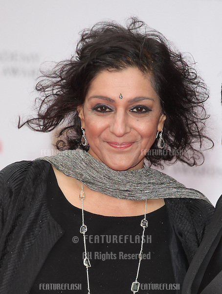 Meera Syal arriving for the TV BAFTA Awards 2013, Royal Festival Hall, London. 12/05/2013 Picture by: Alexandra Glen / Featureflash