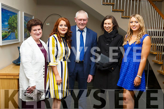 Elizabeth McCarthy, Triona Brassil, Mike and Niamh McCarthy and Aine Quane attending the Kilmoyley GAA social in the Ballyroe Heights Hotel on Saturday night last.