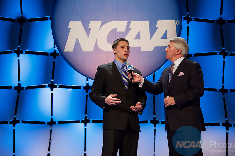 15 JAN 2016:  The NCAA Honor's Celebration takes place during the 2016 NCAA Convention at the Grand Hyatt San Antonio in San Antonio, TX.   Jamie Schwaberow/NCAA Photos  (Pictured:  Zach Zenner)