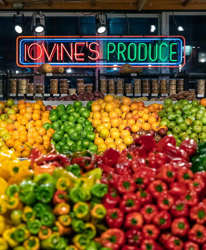 Fresh produce vendor at the Reading Terminal Market in Philadelphia.