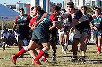 BELO HORIZONTE,MG, 18.06.2016 –BH RUGBY - UBERLÂNDIA– Partida entre BH Rugby e Uberlândia, em jogo válido pelo BH RUGBY DAY, no Centro Universitário de Belo Horizonte, em Belo Horizonte, neste sábado, 18. (Foto: Doug Patricio/Brazil Photo Press)