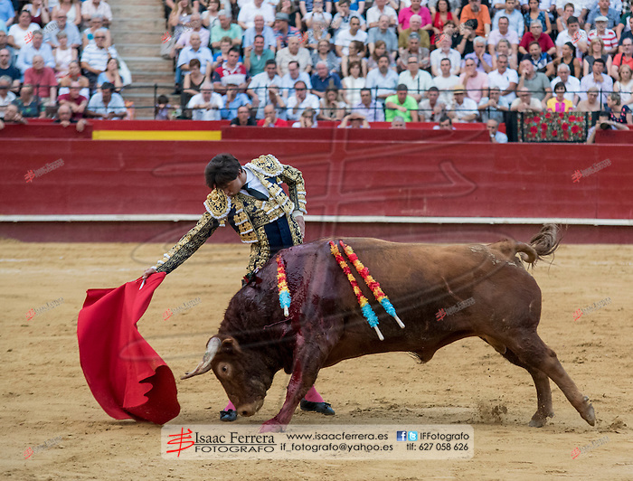 Feria de Julio 2016.<br /> viernes, 22 de julio de 2016.<br /> Corrida mixta.<br /> Pablo Hermoso, Jose Maria Manzanares y Roca Rey.<br /> Coso de la calle Xativa.<br /> Valencia (Valencia-España).