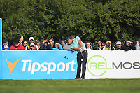 Haydn Porteous (RSA) on the 13th tee during Round 4 of the D+D Real Czech Masters at the Albatross Golf Resort, Prague, Czech Rep. 03/09/2017<br /> Picture: Golffile | Thos Caffrey<br /> <br /> <br /> All photo usage must carry mandatory copyright credit     (&copy; Golffile | Thos Caffrey)
