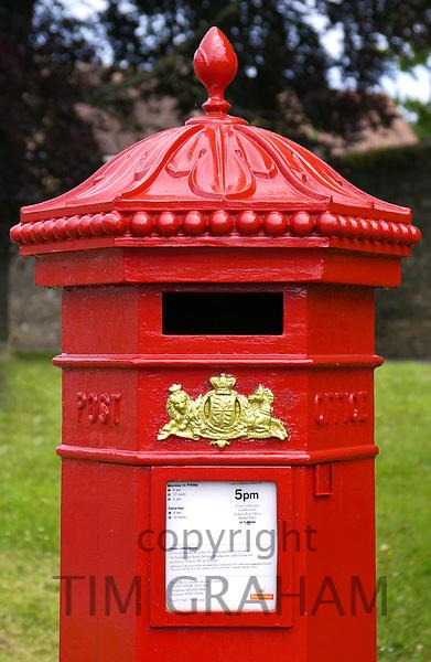 Red pillar-Box , Tetbury, England