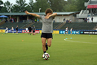 Cary, North Carolina  - Wednesday May 24, 2017: Elizabeth Eddy prior to a regular season National Women's Soccer League (NWSL) match between the North Carolina Courage and the Sky Blue FC at Sahlen's Stadium at WakeMed Soccer Park. The Courage won the game 2-0.