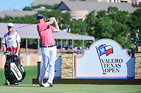 Wesley McClain (USA) watches his tee shot on 11 during round 4 of the Valero Texas Open, AT&amp;T Oaks Course, TPC San Antonio, San Antonio, Texas, USA. 4/23/2017.<br /> Picture: Golffile | Ken Murray<br /> <br /> <br /> All photo usage must carry mandatory copyright credit (&copy; Golffile | Ken Murray)