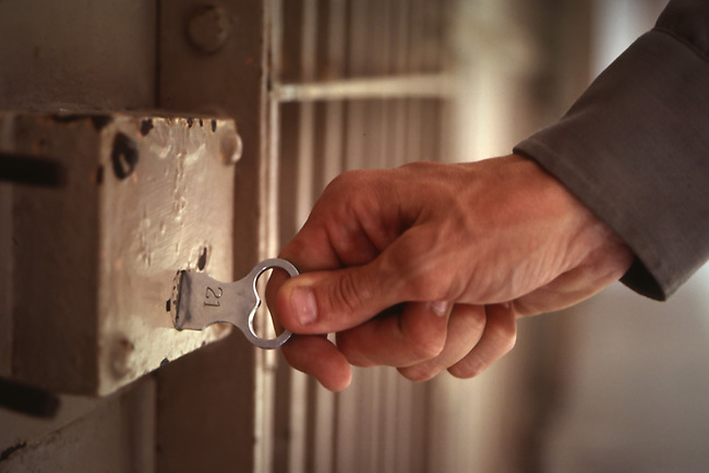 Key inserted into lock at Alcatraz