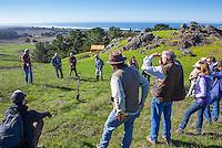 Richard King, California Native Grasslands pasture walk outdoor workshop on rangeland management of grasses
