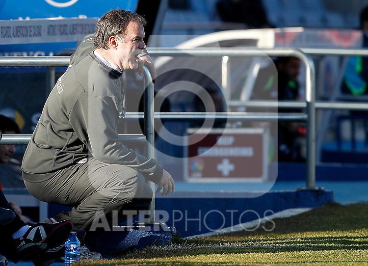 Athletic de Bilbao's coach Marcelo Bielsa during La Liga Match. January 08, 2012. (ALTERPHOTOS/Alvaro Hernandez)