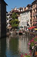 Europe/France/Rhône-Alpes/74/Haute-Savoie/Annecy: Vieilles maisons sur les bords du Thiou
