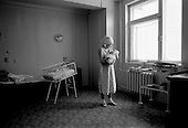 Kirov, Russia  .March 1999.A 29-year-old woman holds her newborn baby for the first time. She delivered just hours before. It is her first and she is given a private room for her and the baby in Kirov?s Maternity Hospital 2...