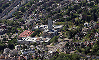 Aerial view of Newport Civic Centre in south Wales which also houses the Crown and magistrates courts