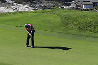 D.A. Points (USA) putts on the 4th green at Spyglass Hill during Thursday's Round 1 of the 2018 AT&amp;T Pebble Beach Pro-Am, held over 3 courses Pebble Beach, Spyglass Hill and Monterey, California, USA. 8th February 2018.<br /> Picture: Eoin Clarke | Golffile<br /> <br /> <br /> All photos usage must carry mandatory copyright credit (&copy; Golffile | Eoin Clarke)