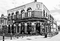 """Chiswick. Greater London. Public House """"The Rutland Arms"""" - Chiswick Mall and embankment  Leading from Chiswick to Fulham Reach RC. Sunday.  24.07.2016  [Mandatory Credit: Peter Spurrier/Intersport-images.com]"""