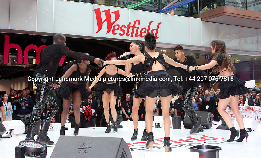 London - Westfield Stratford City opens its doors and becomes the largest shopping centre in Europe. Mayor of London Boris Johnson did the honours with Westfield Chairman Frank Lowy and there was a performance by US singer Nicole Scherzinger. - September 13th 2011..Photo by Keith Mayhew