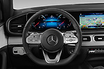 Car pictures of steering wheel view of a 2020 Mercedes Benz GLE AMG-Line 5 Door SUV