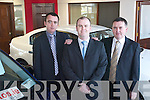Jackie and Brendan Heaphy, with Seamus Murphy, the new member to the sales team at Listowel Autos on the Tarbert Road. Seamus is from Listowel and has many years of experience in car sales and will offer customers a high standard of care and service when buying new or used cars..