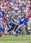 21 September 2014: San Diego Chargers tight end Antonio Gates gets down to the 18 yardline for a first down in the second quarter against the Buffalo Bills at Ralph Wilson Stadium in Orchard Park, NY. The Chargers defeated the Bills 22-10 in AFC play. Mandatory Credit: Ed Wolfstein Photo *** RAW (NEF) Image File Available ***