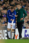 Wayne Rooney of Everton rolls his sleeve down over his injured arm during the Europa League Group E match at Goodison Park Stadium, Liverpool. Picture date: September 28th 2017. Picture credit should read: Simon Bellis/Sportimage