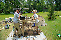 HAZLETON, PA - JUNE 30:  Archaeological workers at the site of an archaeologic dig June 30, 2014 in Hazleton, Pennsylvania. The team is looking through sites connected with the Lattimer Massacre which occurred in 1897. (Photo by William Thomas Cain/Cain Images)