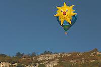 """Ballon """"Lady Sun"""" de l'association """"Ciel de Loire"""" de Vertou en Loire-Atlantique"""