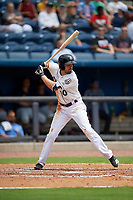 Biloxi Shuckers Michael O'Neill (10) at bat during a Southern League game against the Montgomery Biscuits on May 8, 2019 at MGM Park in Biloxi, Mississippi.  Biloxi defeated Montgomery 4-2.  (Mike Janes/Four Seam Images)