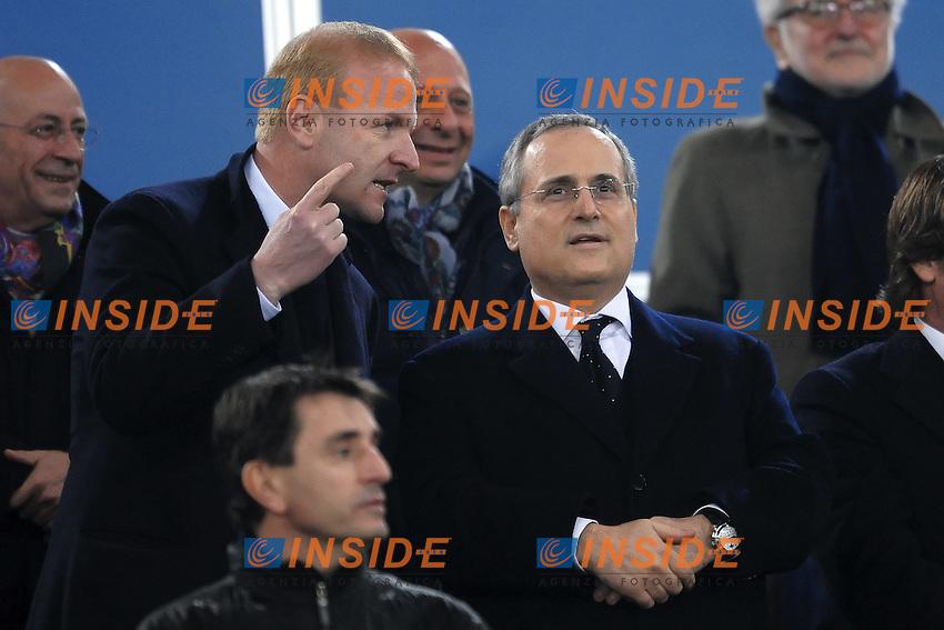 Igli TARE e Claudio LOTITO.Roma 26/11/2011 Stadio Olimpico.Football Calcio Serie A 2011/2012.Lazio Vs Juventus.Foto Insidefoto Andrea Staccioli