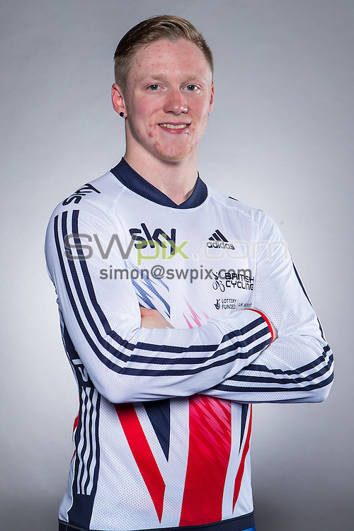 Picture by Alex Whitehead/SWpix.com - 18/11/2015 - Cycling - Great Britain BMX Portraits - National Cycling Centre, Manchester, England - Great Britain's Kyle Evans
