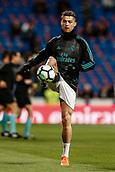 18th March 2018, Santiago Bernabeu, Madrid, Spain; La Liga football, Real Madrid versus Girona; Cristiano Ronaldo (Real Madrid) Pre-match warm-up
