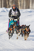 Musher Amanda Byrd, 2007 Limited North American Championship Sled dog race in Fairbanks, Alaska.