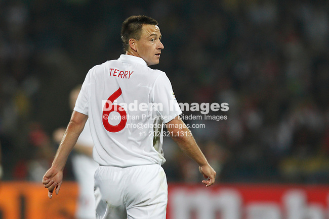 RUSTENBURG, SOUTH AFRICA - JUNE 12:  John Terry of England in action during a 2010 FIFA World Cup soccer match against the United States June 12, 2010 in Rustenburg, South Africa.  NO mobile use.  Editorial ONLY.  (Photograph by Jonathan P. Larsen)