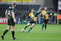 Northampton Saints Stephen Myler kicks a penalty. Liberty Stadium, Swansea, South Wales 12.01.14. Ospreys v Northampton Heineken Cup round 5 pool 1 - pIc credit Jeff Thomas photography