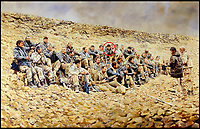 BNPS.co.uk (01202 558833)<br /> Pic: Spink&amp;Son/BNPS<br /> <br /> Harvey in a painting commissioned to mark the famous Sergeant&rsquo;s Mess meeting convened behind enemy lines at Wadi Tubal during the first Gulf war.<br /> <br /> The bravery medals of a heroic SAS officer who went behind enemy lines in the Falklands War, supported missile hunting teams in Desert Storm and did multiple tours in Northern Ireland have emerged for auction and are tipped to sell for &pound;20,000.<br /> <br /> Warrant Officer David John Harvey, known to his friends as 'Dia', was awarded seven medals during his distinguished 26 year career in the army and SAS.  <br /> <br /> After 15 years in the army, he joined the SAS in August 1981 and with the advent of hostilities in the South Atlantic was deployed in a four-man patrol in the Falklands which undertook surveillance and carried out a selfless diversionary attack under heavy mortar fire at Port Stanley.<br /> <br /> In the Gulf War, he went undercover to replenish SCUD-hunting (tactical ballistic missiles) teams such as 'Bravo Two Zero'.<br /> <br /> The 66 year-old trained Oman's special forces in the 1990s and served on the security personnel of a British diplomat in Iraq at the dawn of the Iraq War in 2003 where he narrowly escaped death in a suicide bombing.<br /> <br /> WO Harvey has decided to auction his medals through London-based Spink &amp; Son, which will sell them on Wednesday.