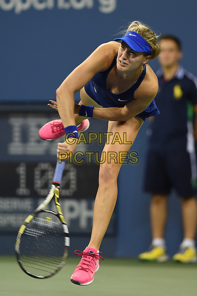 FLUSHING NY- AUGUST 30:  Eugenie Bouchard Vs Barbora Zahiavova Strycova on Arthur Ashe stadium at the USTA Billie Jean King National Tennis Center on August 30, 2014 in Flushing Queens. <br /> CAP/MPI/MPI04<br /> &copy;MPI04/MPI/Capital Pictures