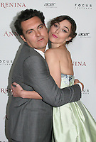 HOLLYWOOD, CA - NOVEMBER 14: Joe Wright and Keira Knightley at the premiere of Focus Features' 'Anna Karenina' held at ArcLight Cinemas on November 14, 2012 in Hollywood, California. Credit: mpi28/MediaPunch Inc. /NortePhoto