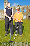CAPT: Declan McCann (capt) and Jaon Cantillon (Ladie Capt) of Ballyheigue  Golf Club on Sunday Tee off on their Capts Day at Ballyheigue Gol;f Club.