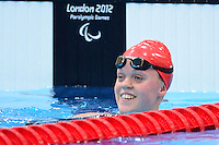 PICTURE BY ALEX BROADWAY /SWPIX.COM - 2012 London Paralympic Games - Day Five - Swimming, Aquatic Centre, Olympic Park, London, England - 03/09/12 - Eleanor Simmonds of Great Britain competes in the Women's 200m Individual Medley SM6 Heats.