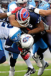 24 December 2006: Buffalo Bills wide receiver Andre Davis (18) tries to gain additional yardage after a reception against the Tennessee Titans at Ralph Wilson Stadium in Orchard Park, New York. The Titans edged out the Bills 30-29.&amp;#xA; &amp;#xA;Mandatory Photo Credit: Ed Wolfstein Photo<br />