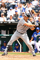 Mariners left fielder Raul Ibanez bats against the Royals at Kauffman Stadium in Kansas City, Missouri on May 27, 2007.  Seattle won 7-4.
