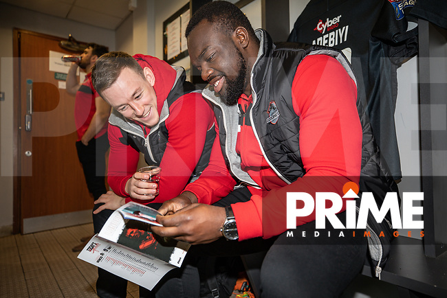 Pre match preparations ahead ofthe Betfred Super League match between London Broncos and Wakefield Trinity at Castle Bar , West Ealing , England on 3 February 2019. Photo by David Horn.