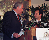 Paula Jones' attorneys Gilbert Davis (L) and Joseph Cammarata (R) discuss their victory before the U.S. Supreme Court allowing their client's case against United States President Bill Clinton to go forward in Washington, DC on May 27, 1998.<br /> Credit: Ron Sachs / CNP
