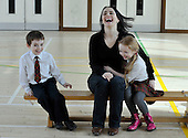 "This picture is free to use - Leading autism charity The National Autistic Society (NAS) Scotland today launched its Count Me In campaign, encouraging the estimated 50,000 Scots with autism to stand up and be counted for the very first time in this year's census. Last year National Autistic Society successfully lobbied the Scottish government to include in the census an explicit autism question. NAS Scotland believes this is a crucial step towards identifying and supporting adults and children with autism, enabling them to access the right support at the right time, and fulfil their potential. Although an estimated 1 in every 100 Scots has autism, at present only 7,500 with the life-long condition have been recognised by local authorities and health boards.  Supporting Count Me In is Scottish actress Laura Fraser, who visited a Glasgow school today (March 23rd) to highlight the campaign. Laura Fraser commented, ""I was shocked to discover that over 70% of children with autism in Scotland also have a mental health problem, often due to the lack of proper support. Providing the right support at the right time can make the difference between a child with autism that experiences isolation and related mental health problems and a happy, healthy child. I am encouraging everyone with autism and their families to say, Count Me In on March 27th"" - Laura is the star of Hollywood films including 'A Knight's Tale', 'Vanilla Sky' and TV dramas 'Casanova', 'Single Father (both with David Tennant) and 'Lip Service' - this picture shows Laura enjoying her visit with Connor-John Walker and Peggy-Ann Rogers (both 6) - Picture by Donald MacLeod - 23.03.11 - 07702 319 738 - www.donald-macleod.com - clanmacleod@btinternet.com"