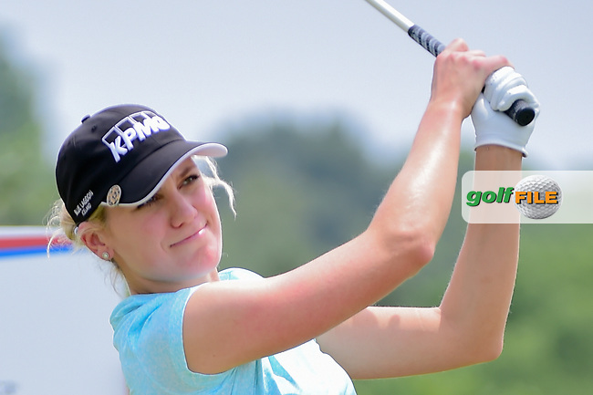 Olafia Kristinsdottir (ISL) watches her tee shot on 9 during round 2 of  the Volunteers of America Texas Shootout Presented by JTBC, at the Las Colinas Country Club in Irving, Texas, USA. 4/28/2017.<br /> Picture: Golffile | Ken Murray<br /> <br /> <br /> All photo usage must carry mandatory copyright credit (&copy; Golffile | Ken Murray)