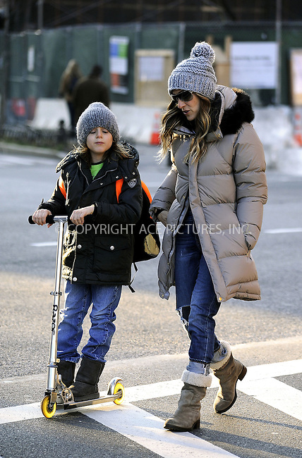 WWW.ACEPIXS.COM....December 13 2012, New York City....Actress Sarah Jessica Parker takes her son James Broderick to school on December 13 2012 in New York City....By Line: Curtis Means/ACE Pictures......ACE Pictures, Inc...tel: 646 769 0430..Email: info@acepixs.com..www.acepixs.com