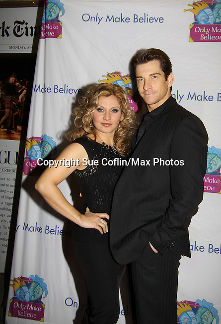 Orfeh and husband Andy Karl - Only Make Believe on Broadway - 14th Annual Gala - on November 4, 2013 hosted by Sir Ian McKellen honoring Susan Sarandon in New York City, New York.  (Photo by Sue Coflin/Max Photos)