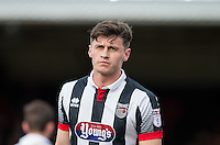 Goalscorer Calum Dyson of Grimsby Town during the Sky Bet League 2 match between Grimsby Town and Wycombe Wanderers at Blundell Park, Cleethorpes, England on 4 March 2017. Photo by Andy Rowland / PRiME Media Images.