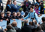 Manchester City's Leroy Sane arrives for the Champions League Quarter Final 2nd Leg match at the Etihad Stadium, Manchester. Picture date: 10th April 2018. Picture credit should read: David Klein/Sportimage