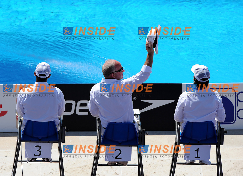 Roma 21th July 2009 - 13th Fina World Championships From 17th to 2nd August 2009....Springboard 3m Women final..The judges......photo: Roma2009.com/InsideFoto/SeaSee.com