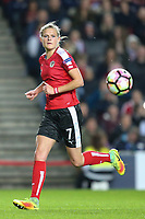 Carina Wenninger (FC Bayern Munich) of Austria Women during the Women's Friendly match between England Women and Austria Women at stadium:mk, Milton Keynes, England on 10 April 2017. Photo by PRiME Media Images / David Horn.